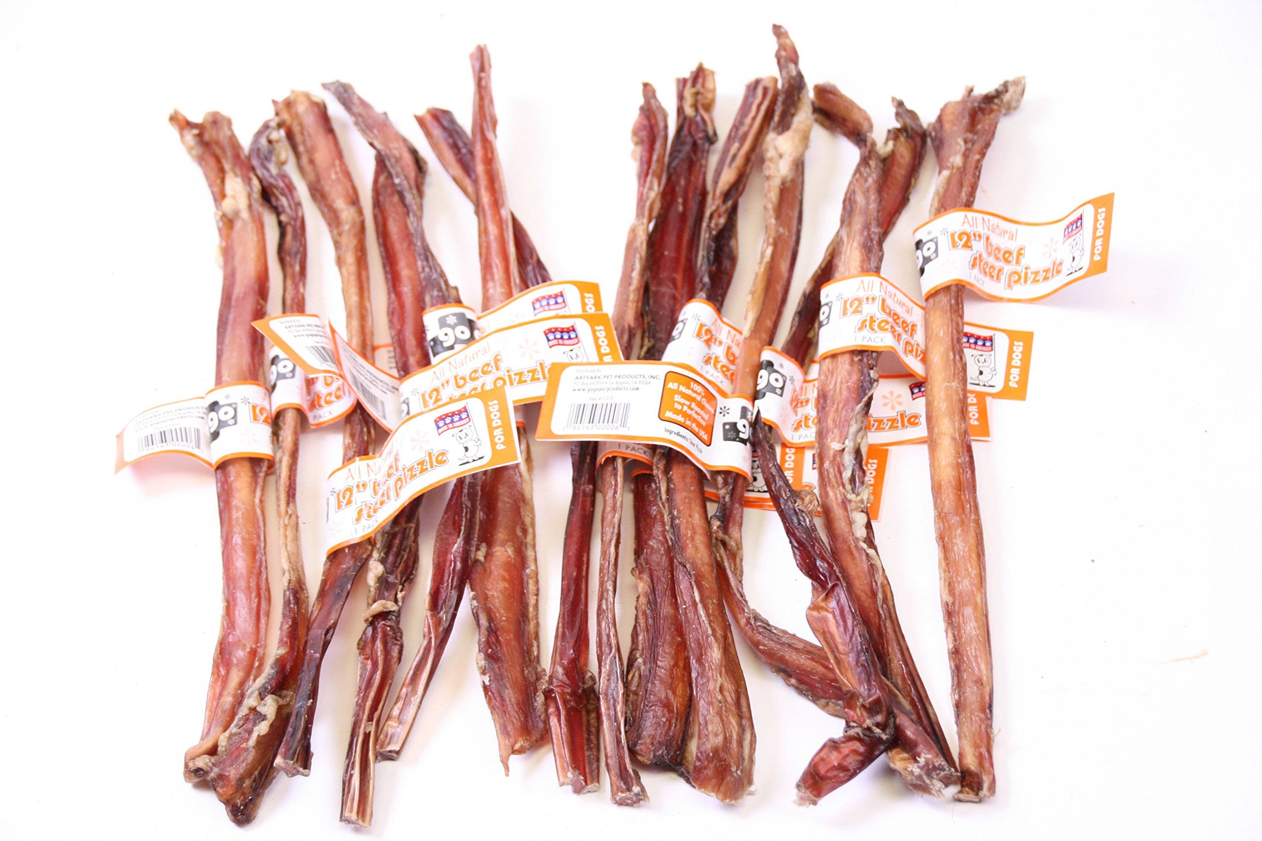 12 Inch USA Made Beef Steer Pizzle Sticks, 50 Pack By GoGo Pet Products… by GoGo Pet Products (Image #4)