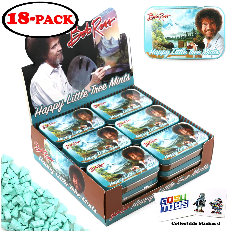 Bob Ross Happy Little Tree Tin Hard Candy Mints - 18 Pack Case