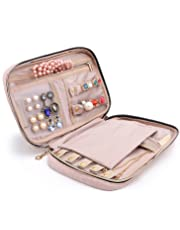 BAGSMART Travel Jewellery Organizer Case Portable Jewelry Bag for Rings, Necklaces, Bracelets, Earrings