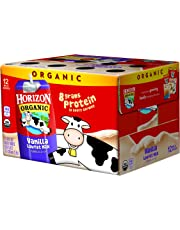 Horizon Organic UHT Vanilla Milk Boxes with DHA Omega-3, 1% Single Serve, 8 Oz., 12 Count