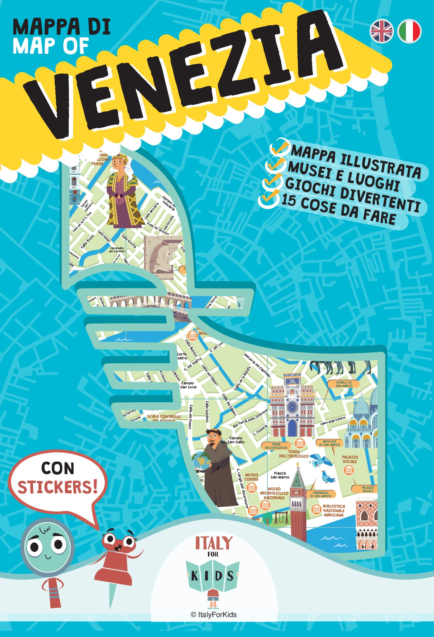 Cartina Venezia Download.Mappa Di Venezia Illustrata Con Adesivi Ediz Italiana E Inglese Amazon It Sara Dania Piva Donata Cerato M O Sullivan C Libri In Altre Lingue