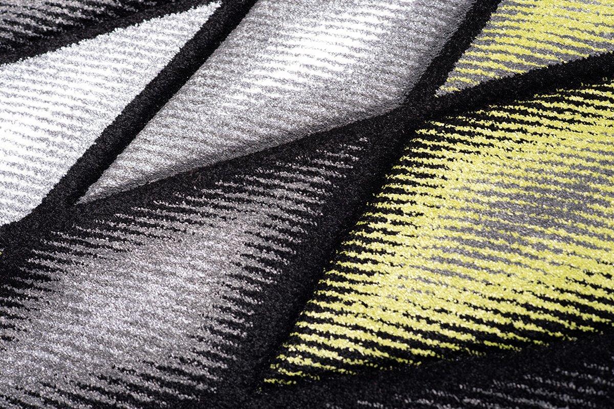 Tapiso Sumatra Teppich Kurzflor Konturenschnitt Modern Grau Grün Abstrakt Abstrakt Abstrakt Karo Viereck Muster Designer Wohnzimmer Jugendzimmer ÖKOTEX 140 x 190 cm B07DPMFSRX Teppiche 6067f7