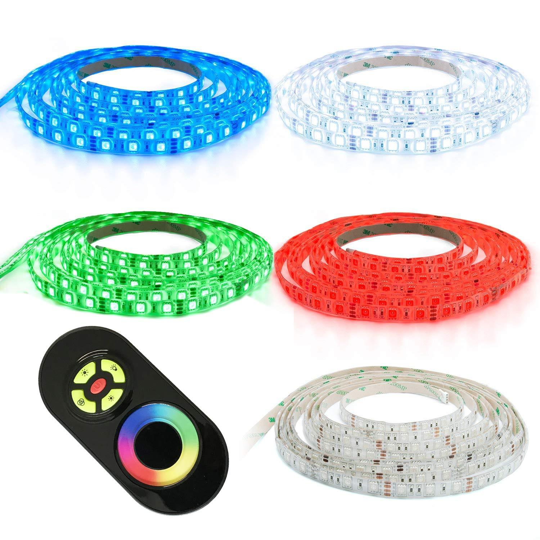 12m LED Streifen Strip Band RGB Mehrfarbig mit 60x 5050 SMD Pro. Meter - Silikonüberzogen - mit Touch Fernbedienung - Komplett Set