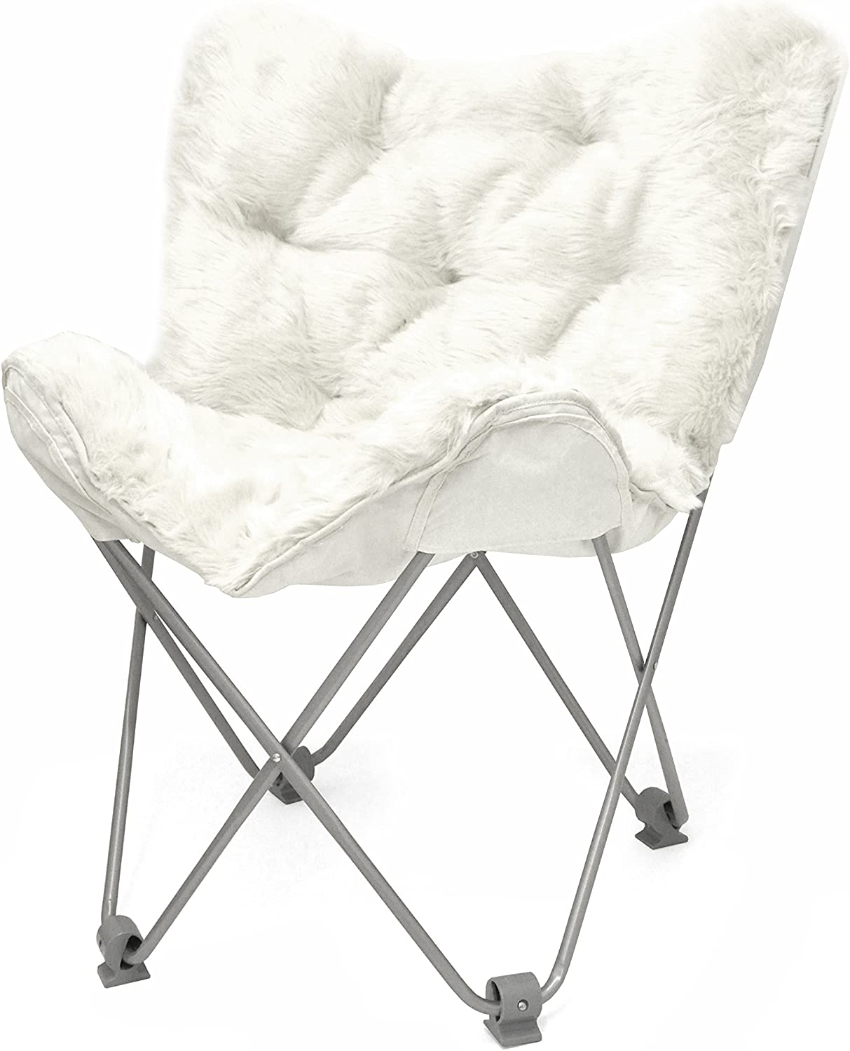 Urban Shop Mongolian Faux Fur Butterfly Chair