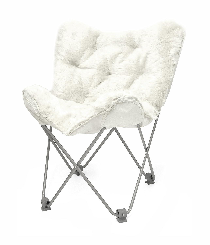 Urban Shop Mongolian Faux Fur Butterfly Chair