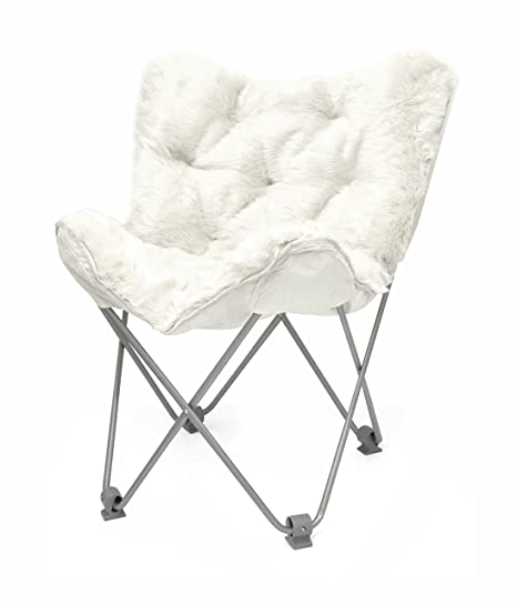 Superbe Urban Shop Mongolian Faux Fur Butterfly Chair