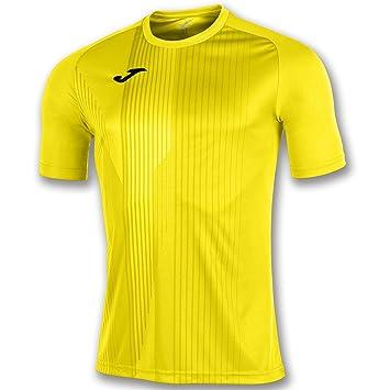 KiarenzaFD Joma Camiseta Tiger M/C Amarillo Fútbol Fashion Camiseta para Hombre, 100945_900_4XS-