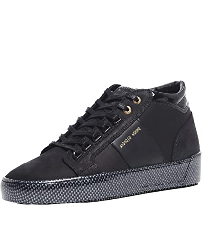 0c53ea28396 Android Homme Men s Leather Mid-Top Propulsion Trainers UK 8 Black ...