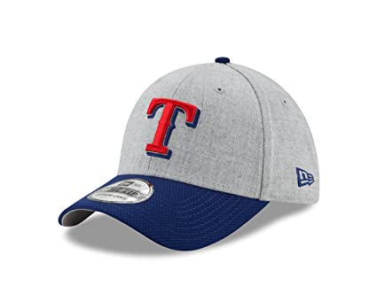 new concept 50adf e7987 Texas Rangers New Era Heathered Gray Royal Change up Redux 39THIRTY Flex  Fit Hat (