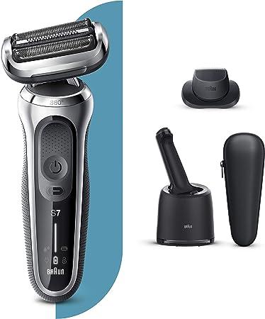 Braun Series 7 70-S7200cc Afeitadora Eléctrica, máquina de afeitar hombre de lámina Con Centro De Limpieza SmartCare, Recortadora De Precisión, Uso En Seco Y Mojado, Recargable, Inalámbrica, Plata: Amazon.es: Salud y cuidado