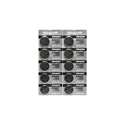 Energizer CR2032 3 Volt Lithium Coin Battery 10 Pack (2x5 Pack) In Original Packaging