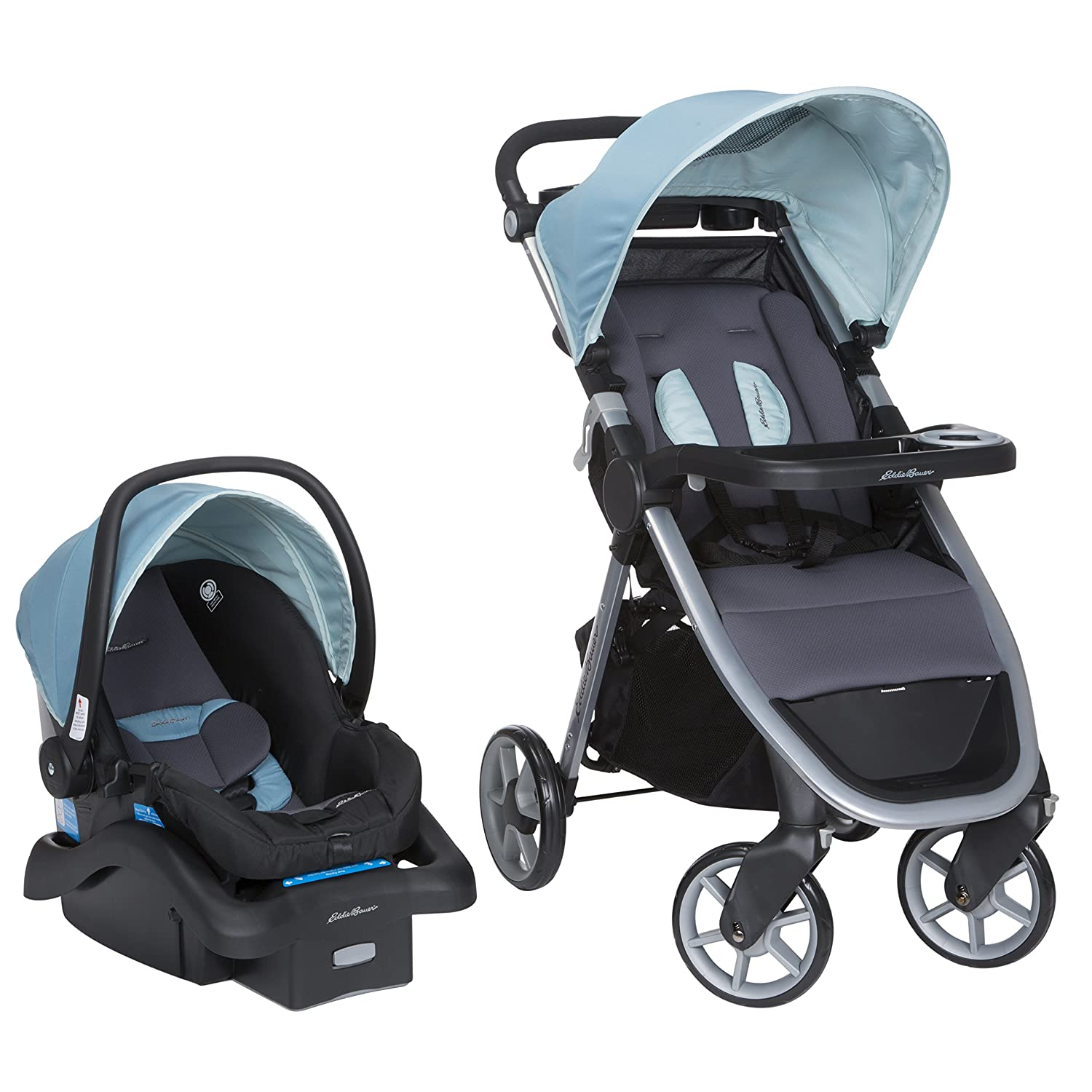 Amazon.com : Eddie Bauer Alpine 4 LX Travel System with SureFit 35 LT,  Dusty Cloud : Baby
