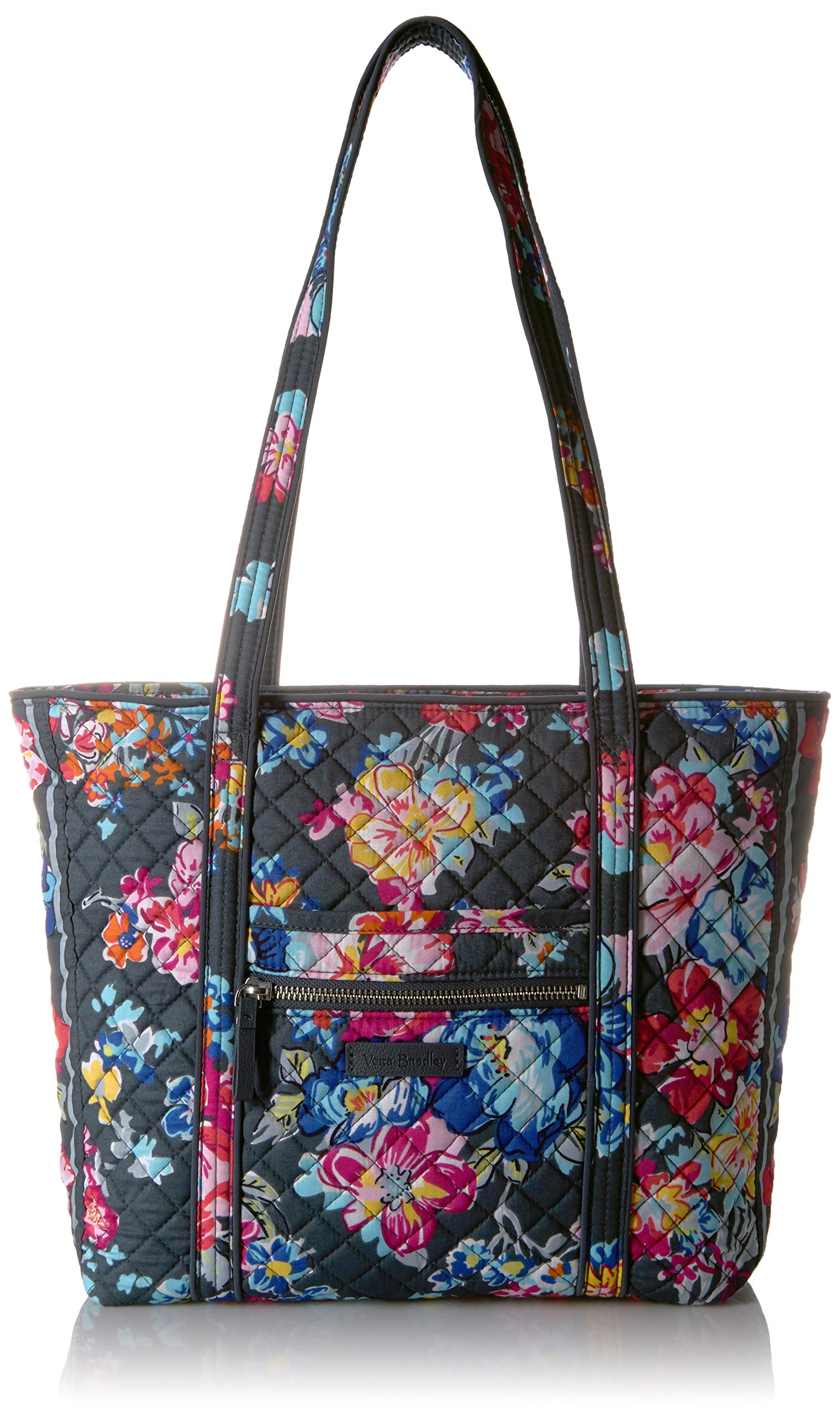 Vera Bradley Iconic Small Vera Tote, Signature Cotton, pretty Posies