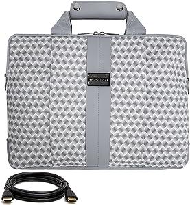 "VanGoddy Modern White Messenger Bag for Lenovo Flex/ThinkPad/IdeaPad/Yoga 14"" - 15.6inch + 12FT HDMI Cable"