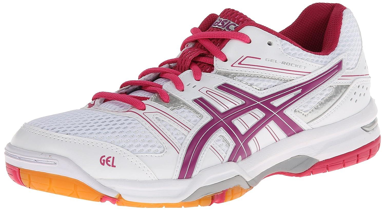 ASICS Women's Gel Rocket 7 Volley Ball Shoe B00GY066V2 10 B(M) US|White/Fuchsia/Magenta
