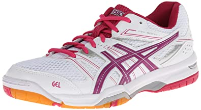 95bb3d3d20c7 ASICS Women s Gel Rocket 7 Volley Ball Shoe White Fuchsia Magenta 11 ...