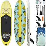 Ciays Inflatable Stand Up Paddle Board W SUP Accessories of Backpack, 2 Fins, 2 Bags, Leash, Floating Paddles and Double Acti