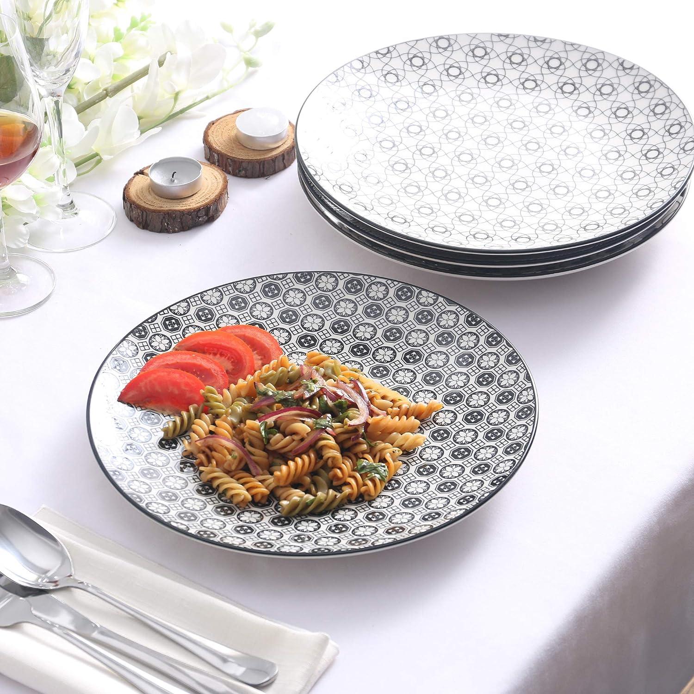 Japon/és Taz/ón Grande Servir 15,2 x 15,2 x 7,5 cm vancasso Haruka Cuencos de Cereal de 4 Piezas Set de Cuencos 6 Porcelana Sopa Tazon de Fideos//Mezcla//Frutas//Cuenco