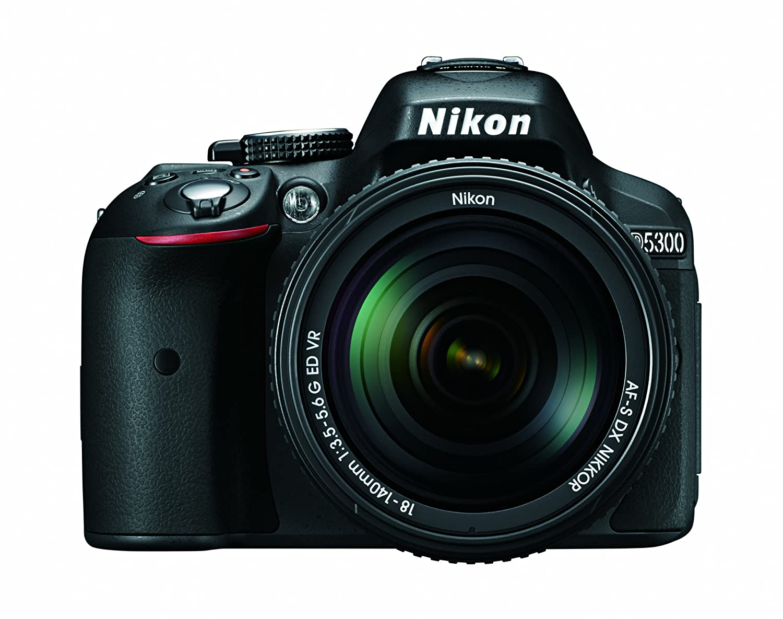 Nikon D5300 24.2 MP CMOS Digital SLR Camera with 18-55mm f/3.5-5.6G ED VR Auto Focus-S DX NIKKOR Zoom Lens (Black) 1522