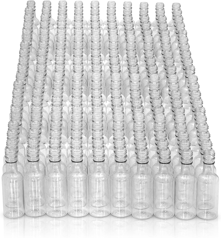 Mini Bottles- Mini Liquor bottles -Mini Plastic Bottles - (210) PACK - Little Empty Alcohol Shot Nips-Mini Plastic Bottle With Caps-Empty Airplane Liquor Bottles-(210 PACK) - Plastic Mini Bottles