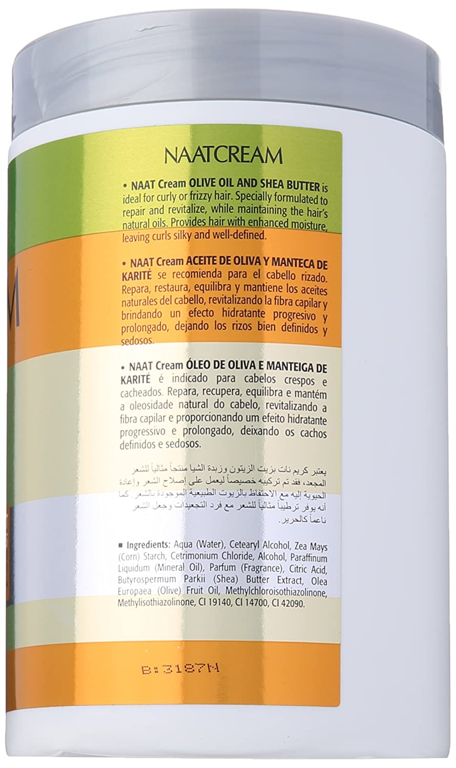 Nunaat Hair mask with olive oil and shea butter, 1 kg