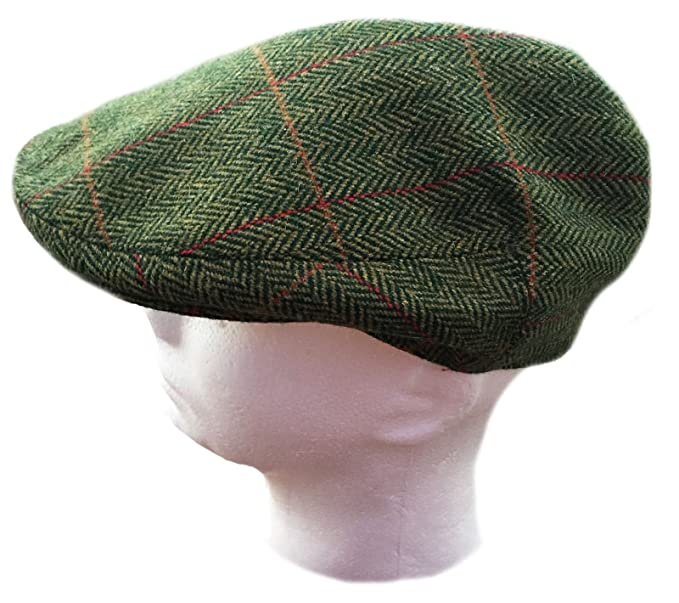 Lawrence   Foster Ltd Yorkshire Hand Tailored Tweed Garforth Flat Cap  Loxley Green Herringbone Made in cf8e79f5d33