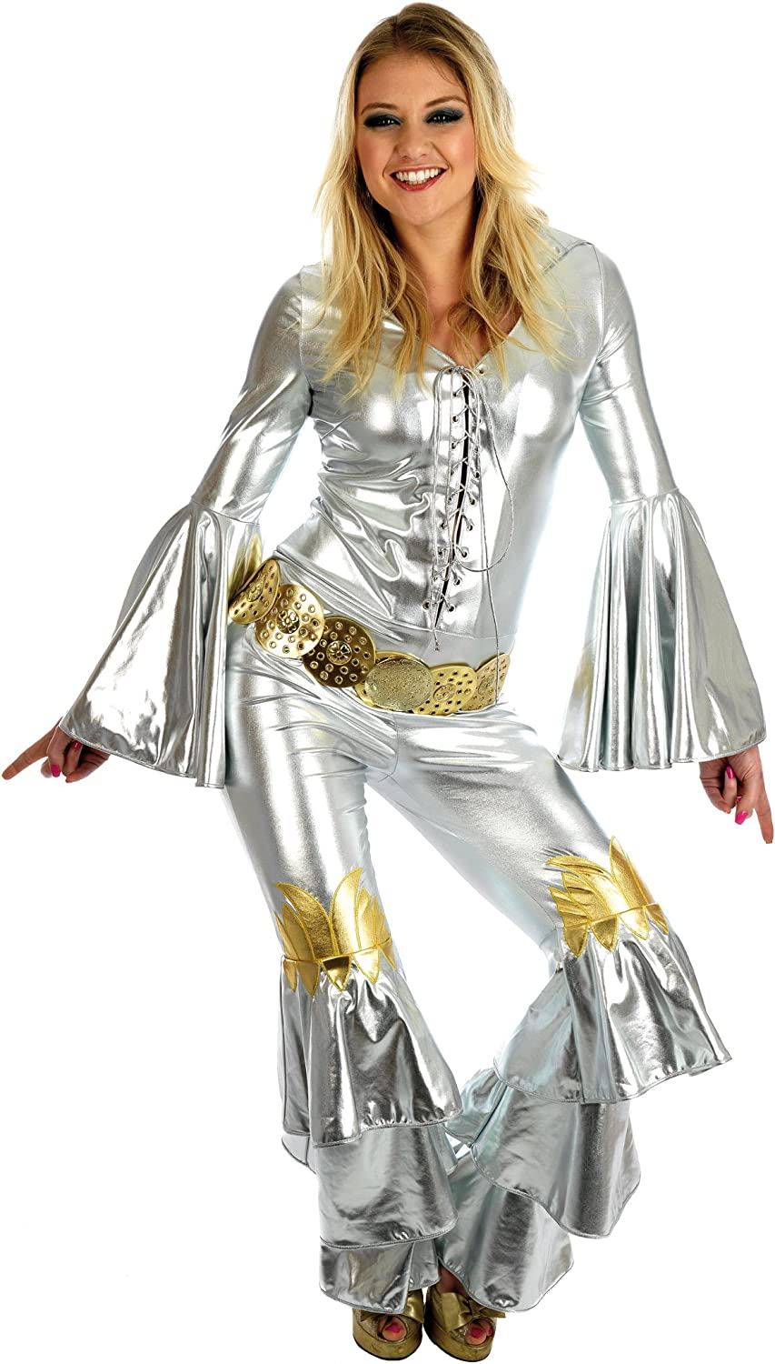 ABBA DANCING QUEEN FANCY DRESS COSTUME XXL 20-22 (disfraz): Amazon ...