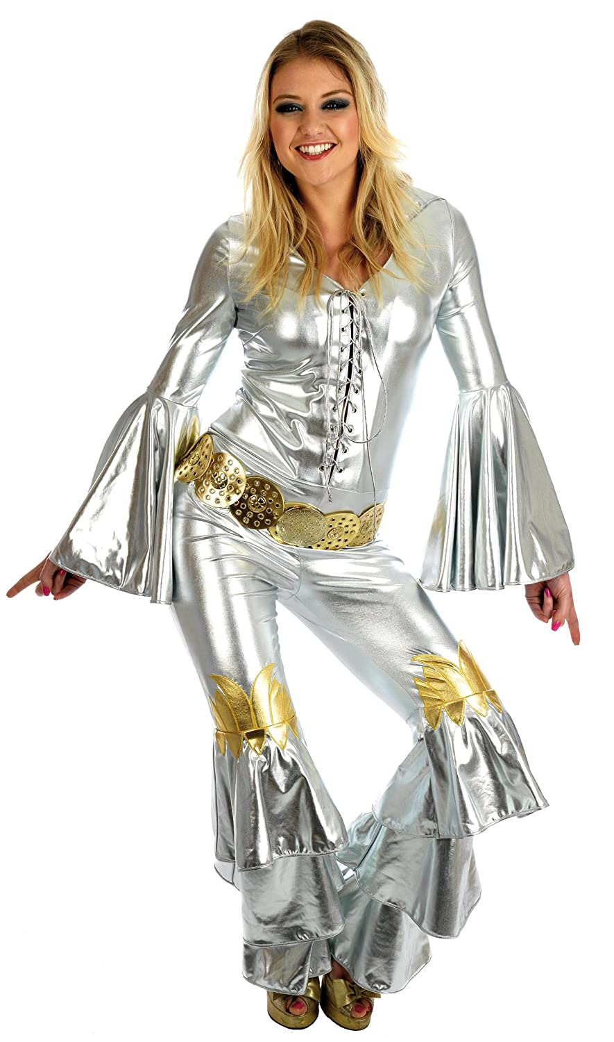 ABBA DANCING QUEEN FANCY DRESS COSTUME XXL 20-22 (disfraz): Amazon.es: Juguetes y juegos