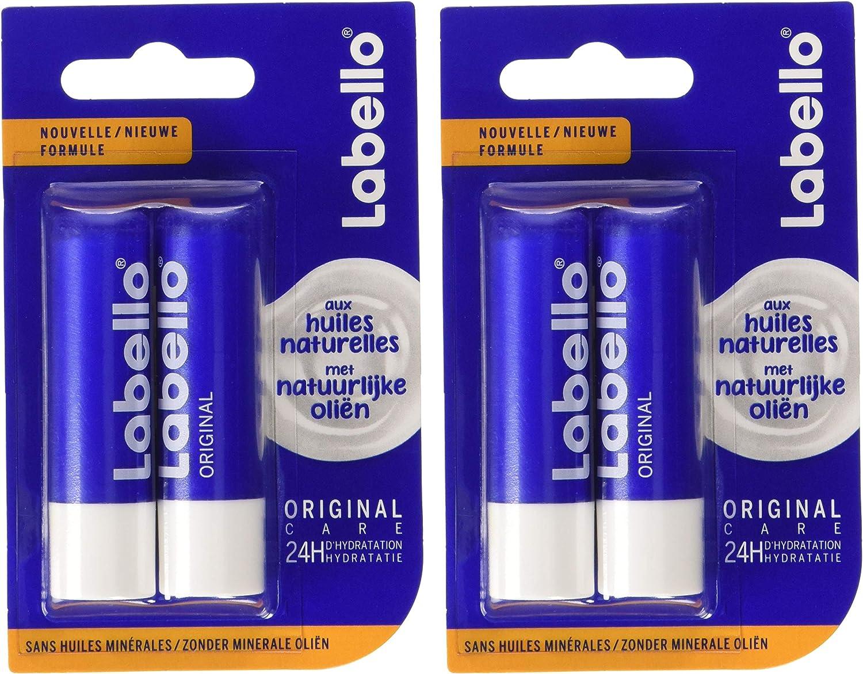 enrichi Labello à onctueuseSoin 5 NIVEA en texture Original4 x naturelles la Hydratation mlBaume lèvres à lèvres huiles des et longue durée 5 qMSzUVp