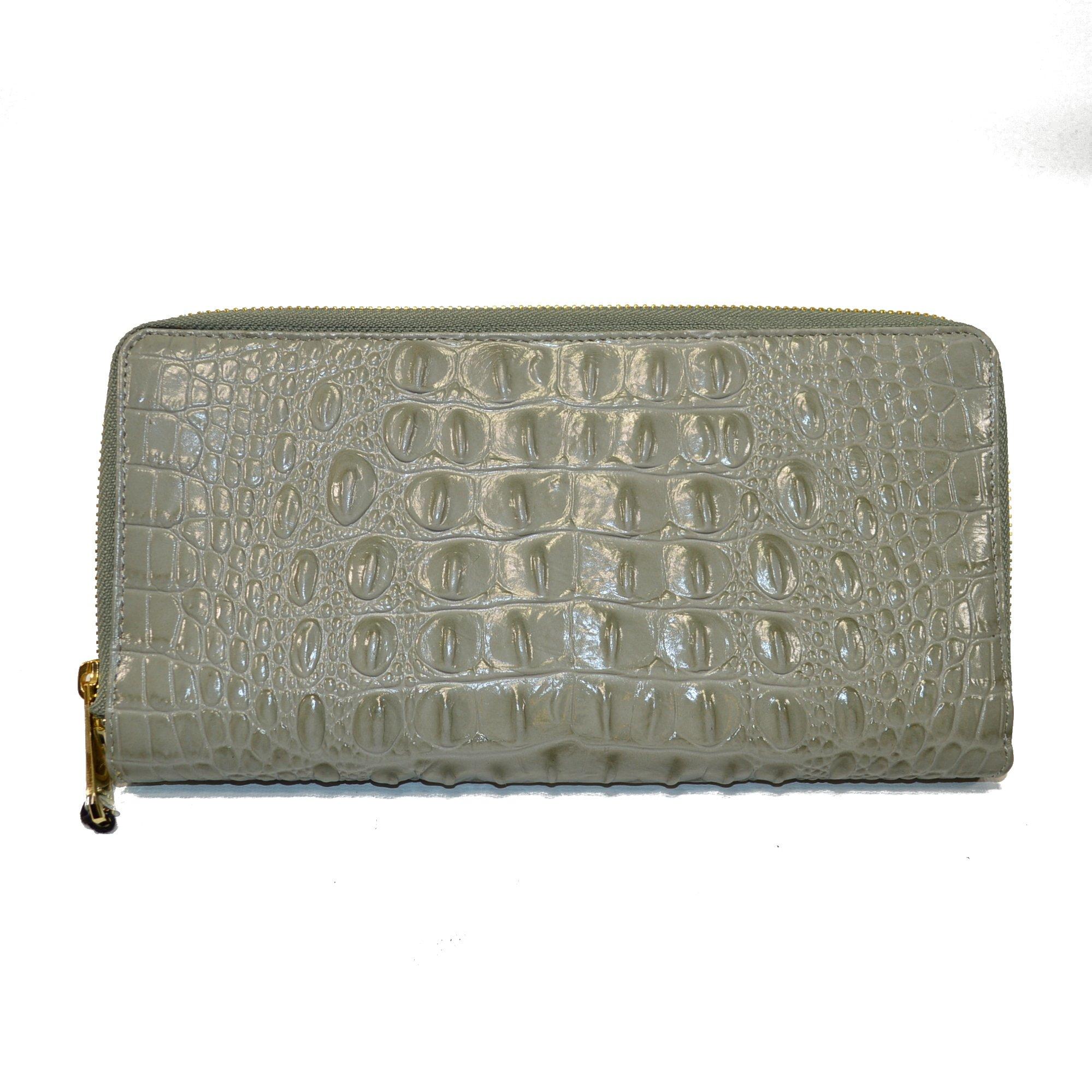 Brahmin Skyler Travel wallet Clutch Wristlet Silver Sage Melbourne by Brahmin