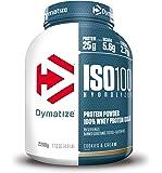 Dymatize ISO 100 Hydrolyzed Poudre d'Isolat de Protéines Faible en Sucre Riche en Protéines Biscuit/Crème 2,2 kg