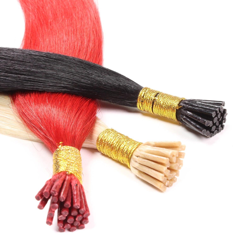 100 x 1g Micro-Ring I-TIP Extensions, 50cm - glatt - #20 Aschblond - Stick Echthaar Haarverlängerung hair2heart 4260446888761