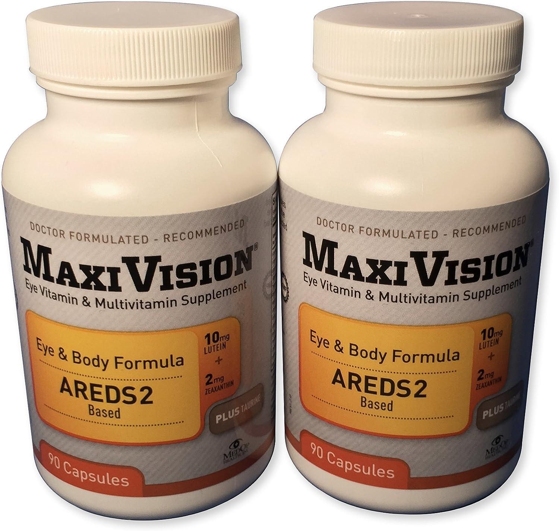 MedOp MaxiVision Eye Body Formula – 90 Capsules, 2 Bottles