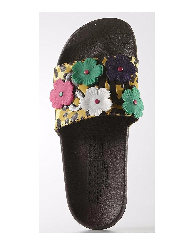 Adidas Originals Jeremy Scott Adilette Leopard Floral Slides Sandals Size 12