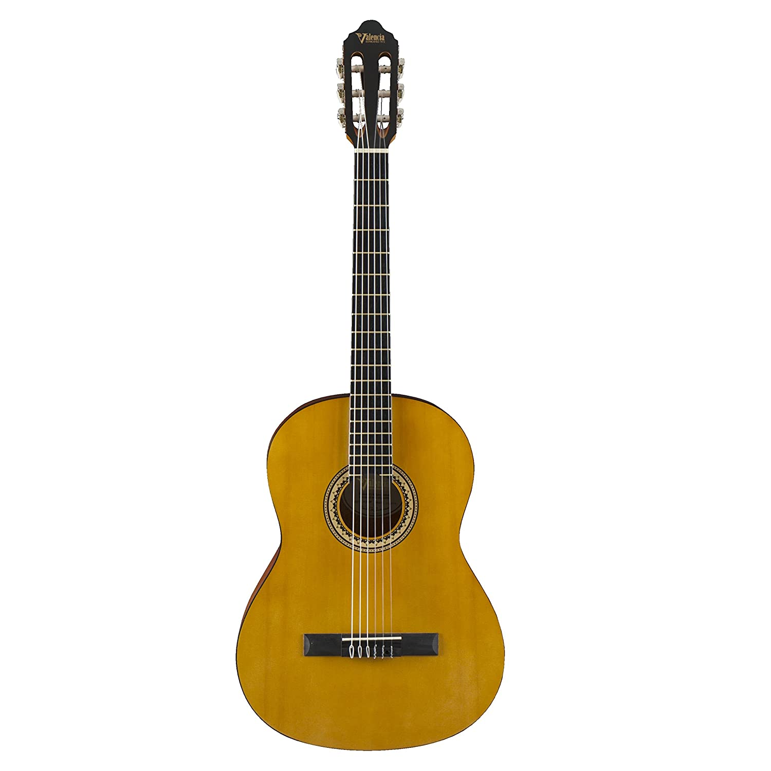 Valencia 200 Series Full Size Hybrid Classical Acoustic Guitar Natural