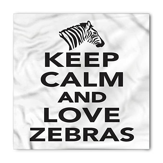 Amazon.com: Lunarable Zebra Print Bandana, Keep Calm Love ...