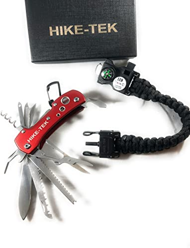 Hike-tek Swiss Style Army Pocket Knife 14 Multi Function Pocket Knife- for Every Day Use Including Outdoor, Rescue and Survival