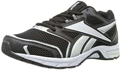 Reebok Men's Southrange Run L Running Shoe,Black/White/Pure Silver,7.5