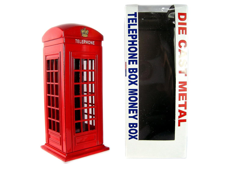 denaro scatole London Red Telephone box Money box in metallo pressofuso, Londra souvenir da collezione Money Boxes London 784311757517