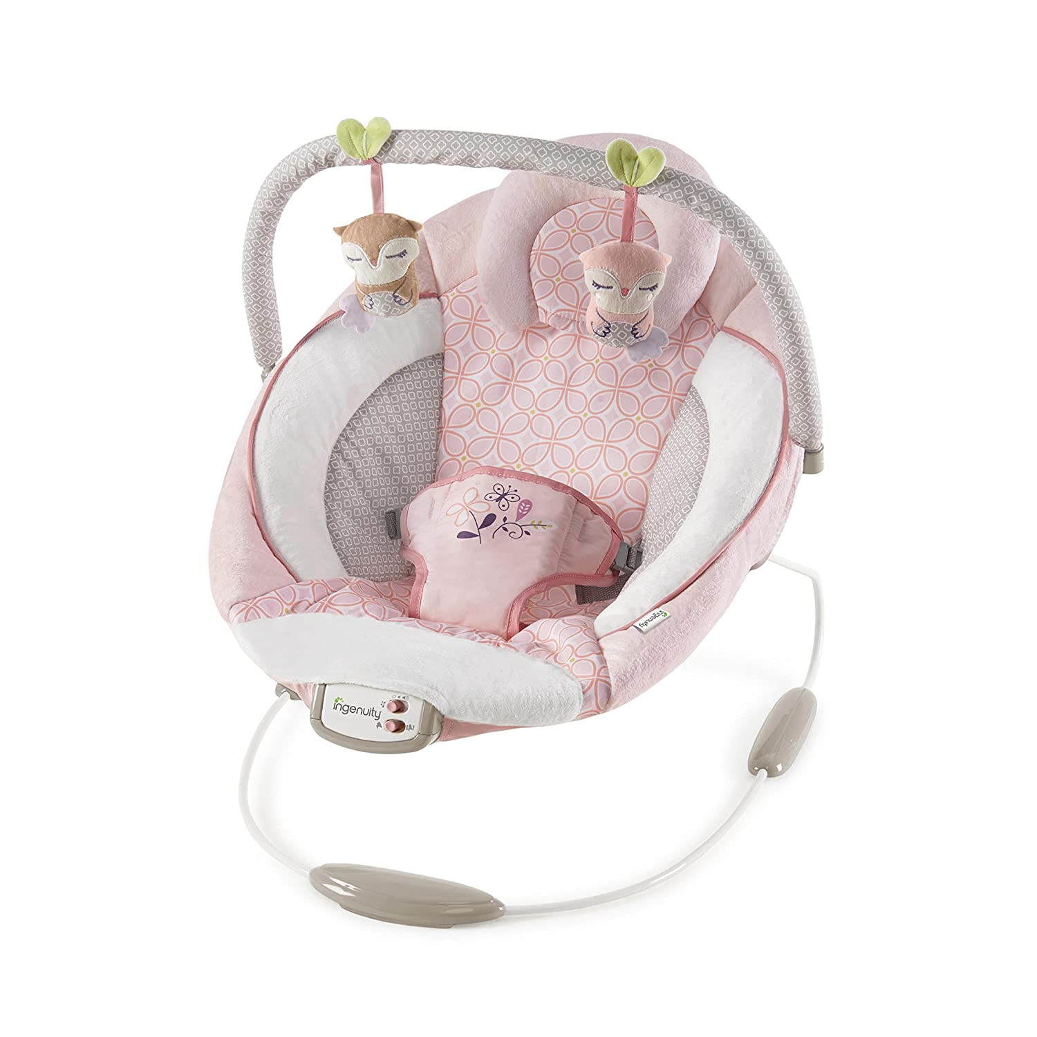 Ingenuity 11202 Cradling Bouncer – Audrey Wippe, rosa Kids II Europe B.V. 11202-3