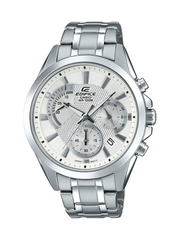Casio Men s Edifice Silver Quartz Watch with Stainless-Steel Strap, 21.6 Model EFV-580D-7AVUDF