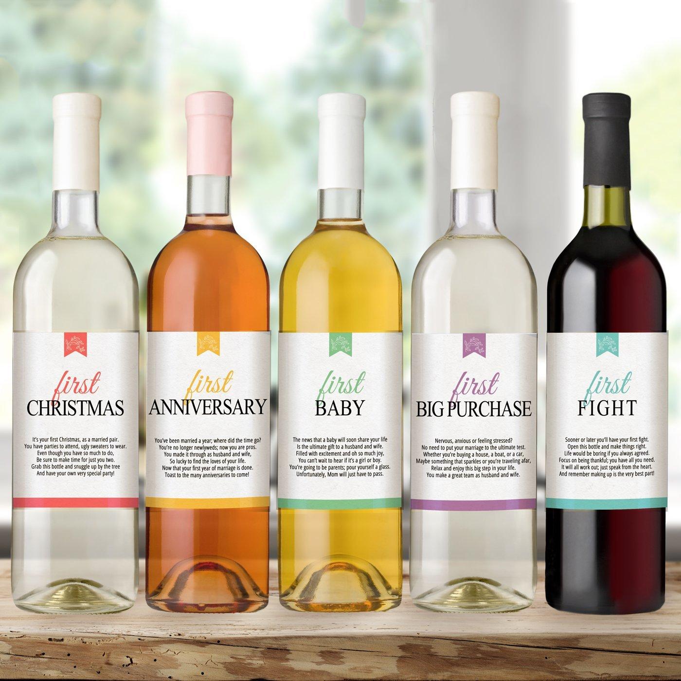 amazon com wine bottle labels for wedding gift wedding