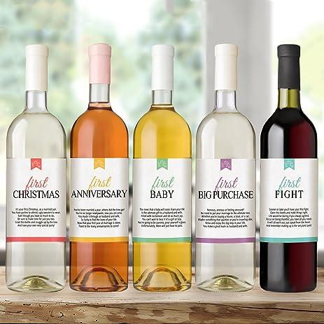 Amazon.com: Wine Bottle Labels for Wedding Gift, Wedding ...