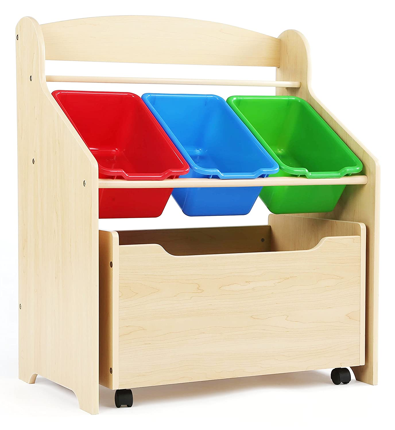 Kids Toy Storage Organizer Bedroom Bucket Wood Furniture