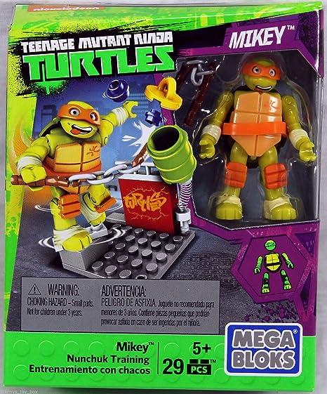 Mega Bloks Teenage mutnat Mikey de las Tortugas Ninja juego ...