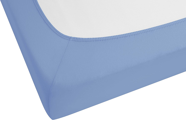 140 x 200 cm Castell 77113//018//087 Azul Oc/éano S/ábana bajera ajustable el/ástica para cama