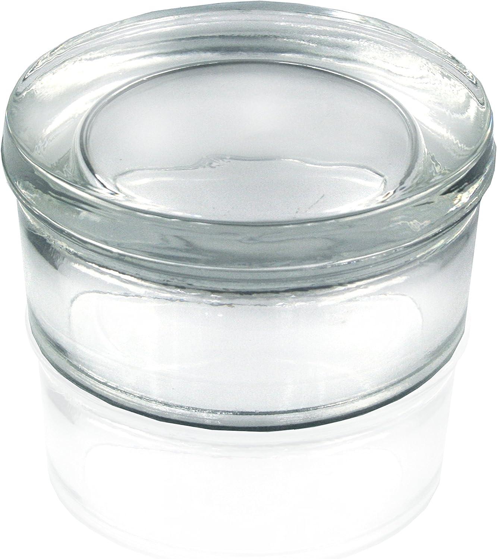 10/pieza Dise/ño de piedra de cristal//cristal Piedra hormig/ón Cristal Visi/ón redondo blanco 12/x 6/cm transparente//transparente
