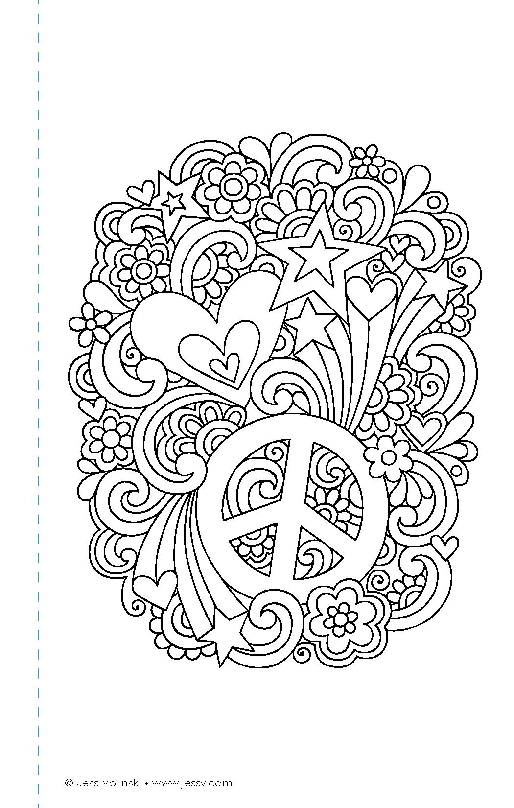 Color Cute Coloring Book Perfectly Portable Pages On The