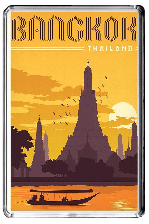 C076 BANGKOK FRIDGE MAGNET THAILAND VINTAGE TRAVEL PHOTO MAGNETICA CALAMITA FRIGO CFL