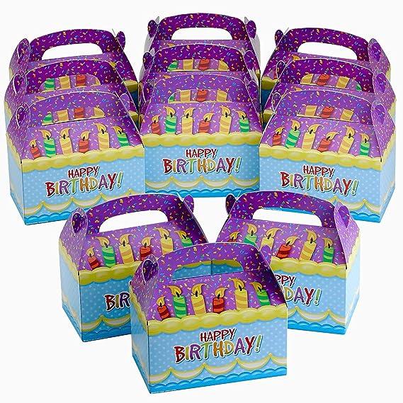 Amazon.com: Kicko - Cajas para dulces de cumpleaños, velas ...